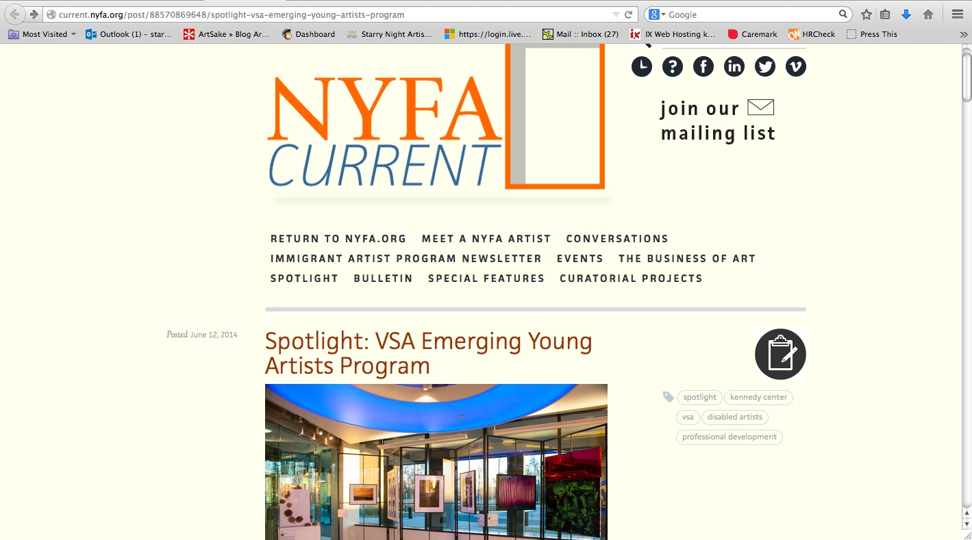 NYFA: Current – Press