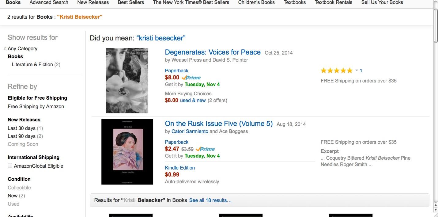 Search me on Amazon!